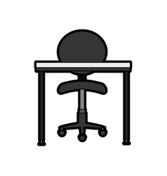 office chair and desk vector image