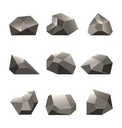 Polygon stone or poly rocks set vector image vector image