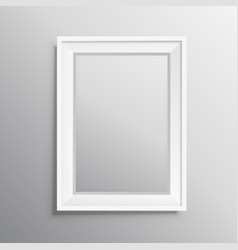Realisitc photo frame mockup display vector