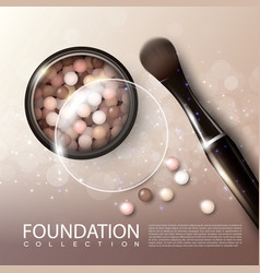 Realistic makeup products ads poster vector