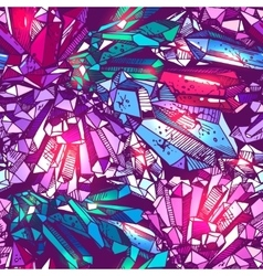 sketching of crystals vector image
