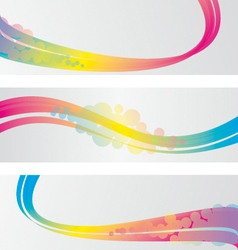 Three abstract banners vector image