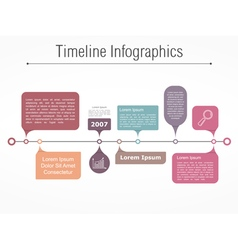 Timeline Elements vector image vector image