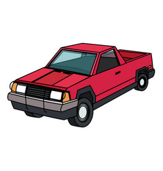 Vintage 90s style car icon image vector