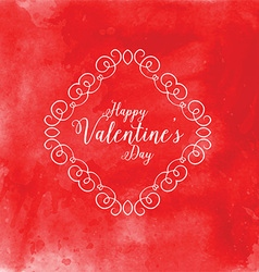 Watercolor Valentines Day background 1201 vector image vector image