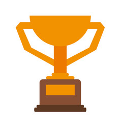 winner trophy flat vector image