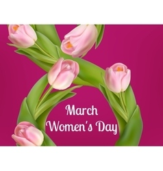 Womens day on March 8th EPS 10 vector image