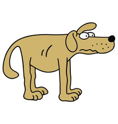 Yellow dog vector