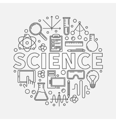 Science round vector image