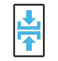 Press vertical direction framed icon vector