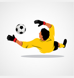 Goalkeeper ball icon vector