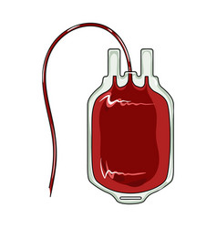 Bag of bloodmedicine single icon in cartoon style vector