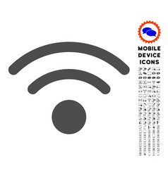 wi-fi icon with set vector image