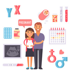 Infertility pregnancy problems medical maternity vector