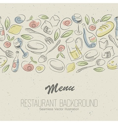 Restaurant menu elegant vector