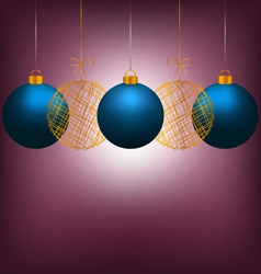 Christmas balls on violet vector
