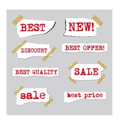 Promotion sale labels vector