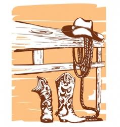 cowboy elements vector image