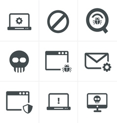 Digital criminal icons set vector