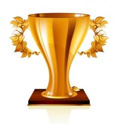 Goblet gold vector