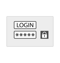 Account login screen vector