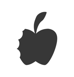 Apple icon healthy and organic food vector
