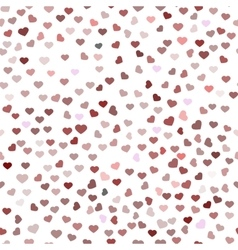 Abstract Valentine s Day hearts Red hearts vector image vector image