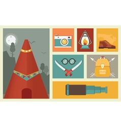 Adventure and traveling vector image vector image
