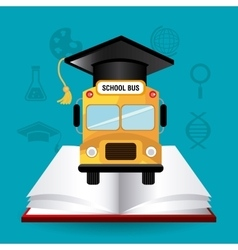 Back to school season design vector image vector image