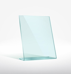 Blank glass award plate vector