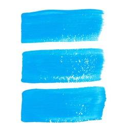 Bright blue ink brush strokes vector image
