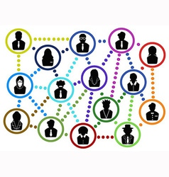 business people communication net vector image