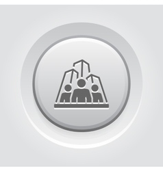 Business team icon grey button design vector