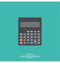 Calculator top view vector image vector image