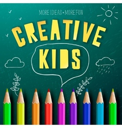 Concept of creative education for kids vector image vector image