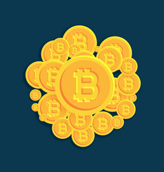 Crypto bitcoins digital currency coins background vector
