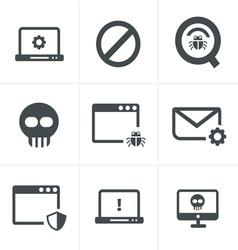 Digital criminal icons set vector