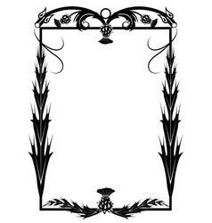 Frame with thistle and dragons vector