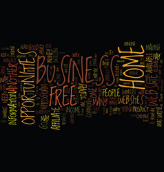 Free home business opportunities text background vector