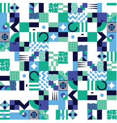 geometric mosaic seamless pattern vector image vector image