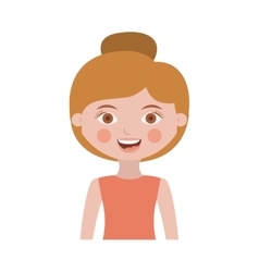 Half body woman with collected hair vector