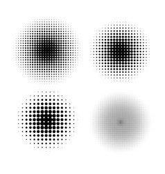 Halftone circle gradient doted gradient vector