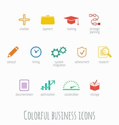 Info graphic icons vector image vector image