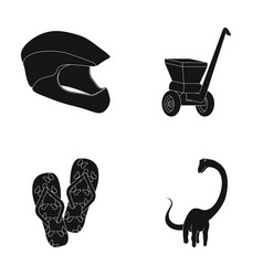 Nature sport history and other web icon in black vector