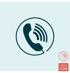 Phone call icon isolated vector