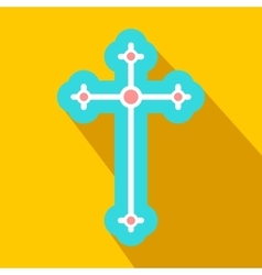 Religious symbol of crucifix flat icon vector