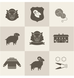 sheep set vector image