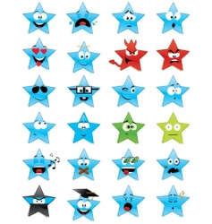 smiley stars vector image vector image