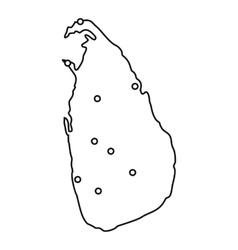 Sri Lanka map icon outline style vector image vector image