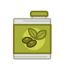 Tin with olive oil vector